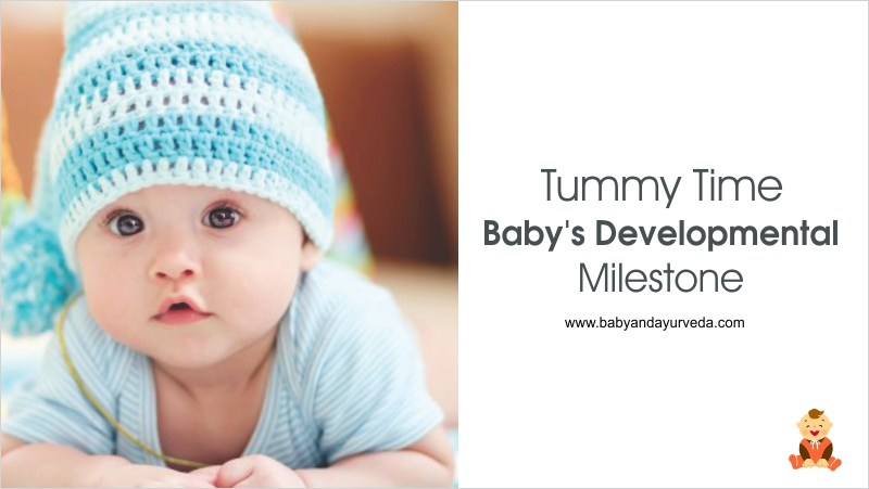 tummy-time-Baby-developmental-milestone-baby-ayurveda