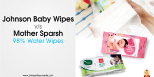 Johnson Baby Wipes or Mother Sparsh 98% Water Wipes