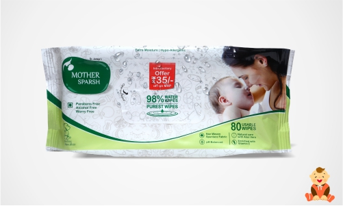 Mother Sparsh 98% Water Wipes-Best Wet Baby Wipes in India